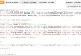 Le nouvel éditeur html de blogger est arrivé