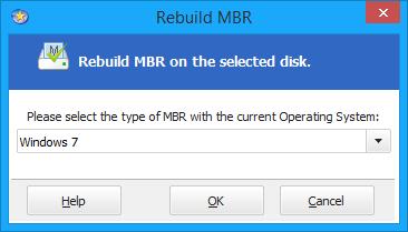 Rebuild mbr windows 7