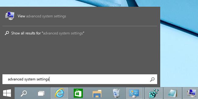 Menu démarrer windows 10 système et sécuriré