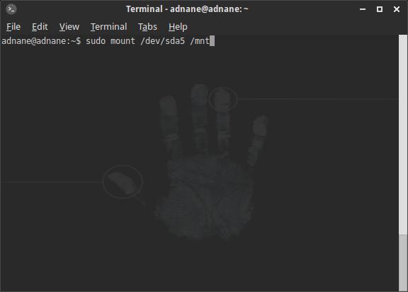 monter une partition Linux