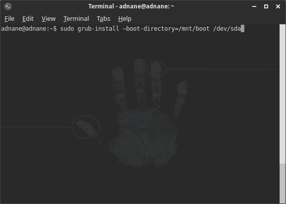 repair ubuntu boot via the command line