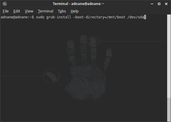 réparer démarrage ubuntu via la ligne de commandes